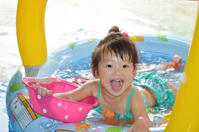 1歳児オススメの遊びには水遊び
